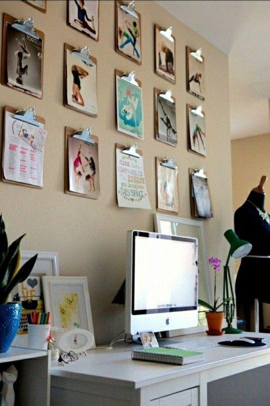 Klemmbrett benutzen für Ihre kreative Wanddeko Ideen | Wanddeko .