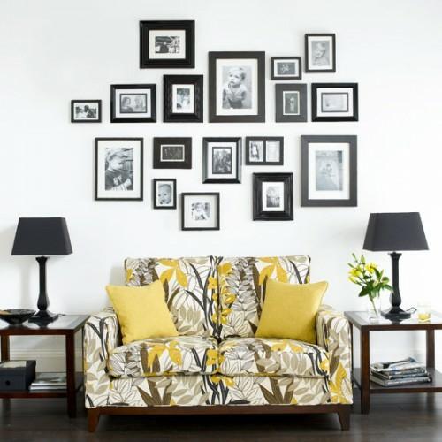 Wand Dekoration mit Bildern - 29 kunstvolle Wandgestaltung Ide