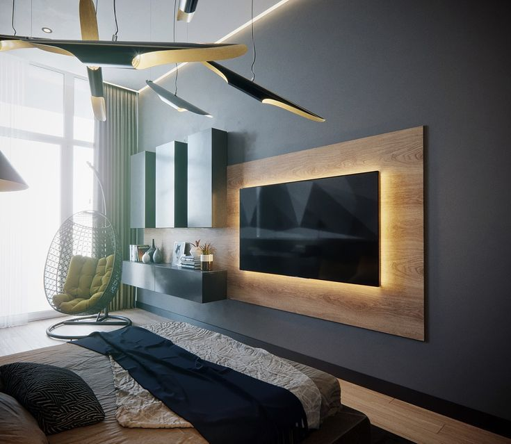 50 Ideen zum Dekorieren der Wand Sie hängen Ihren Fernseher an .