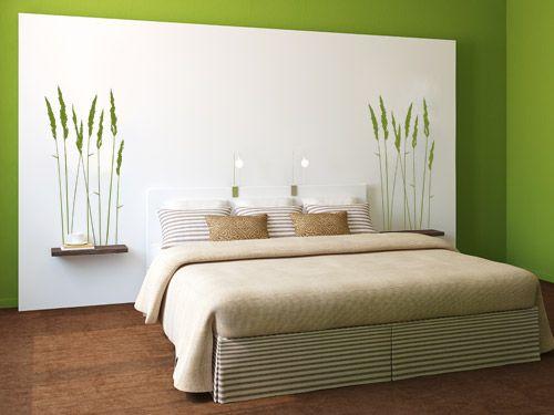 Schlafzimmer Ideen Deko Ideen Schlafzimmer Wand Gras Dekoration .