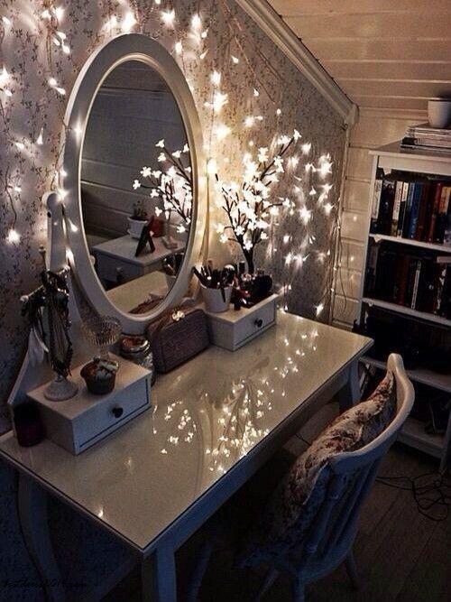 Lichterketten Schlafzimmer Dekoration #ideen #kinderzimmer #fürs .