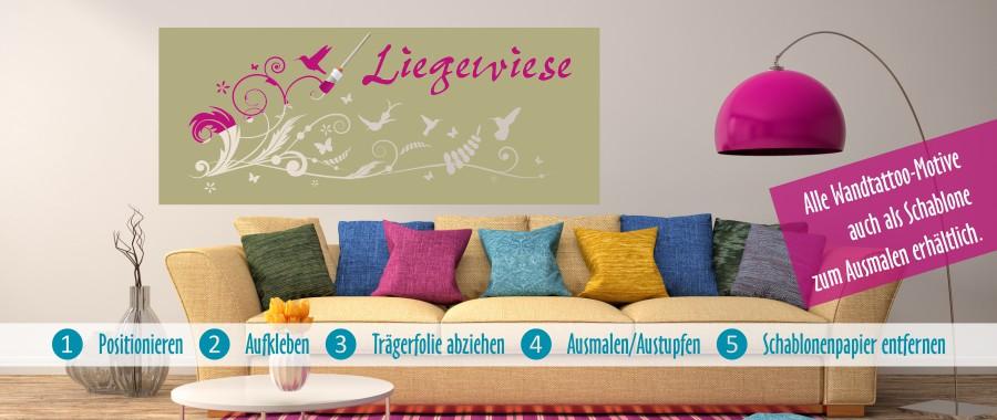 Wandschablonen sind die Alternative zu klassischen Wandtattoos .