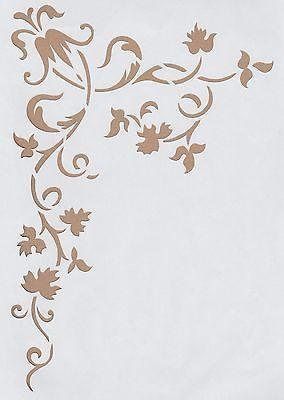 Wandschablonen Schablone Wandtattoo Ornament Ecke XL (mit Bildern .