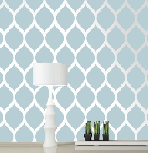 New wall stencil designs includes a different types of designs .