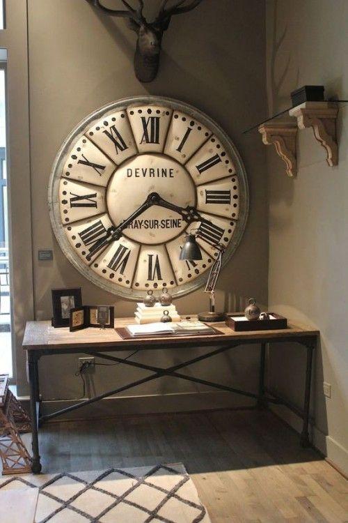 Nie wieder spät mit einer XXL Wanduhr – 60 Ideen | Wall clock .