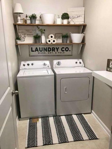 Wäschekammer – #stauraum #Wäschekammer   Laundry room shelves .