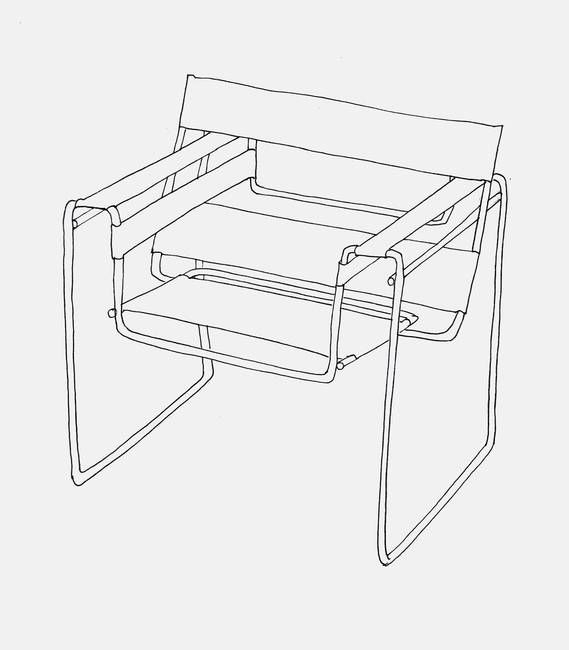 """Wassily Chair Line Drawing"""" by Rachael Edmonds   Wassily chair ."""