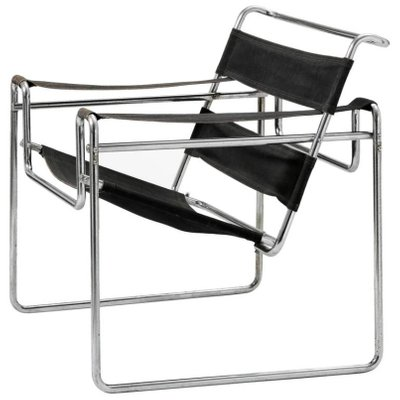 Vintage Model B3 Wassily Chair by Marcel Breuer for Thonet-Mundus .