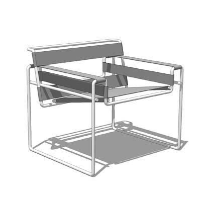 wassily chair 3D Model - FormFonts 3D Models & Textur