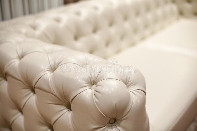 Ledernes Sofa Der Weinlese, Abschluss Oben Stockbild - Bild von .