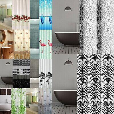 Duschvorhang Textil der Extraklasse 2White weiße Streifen matt und .
