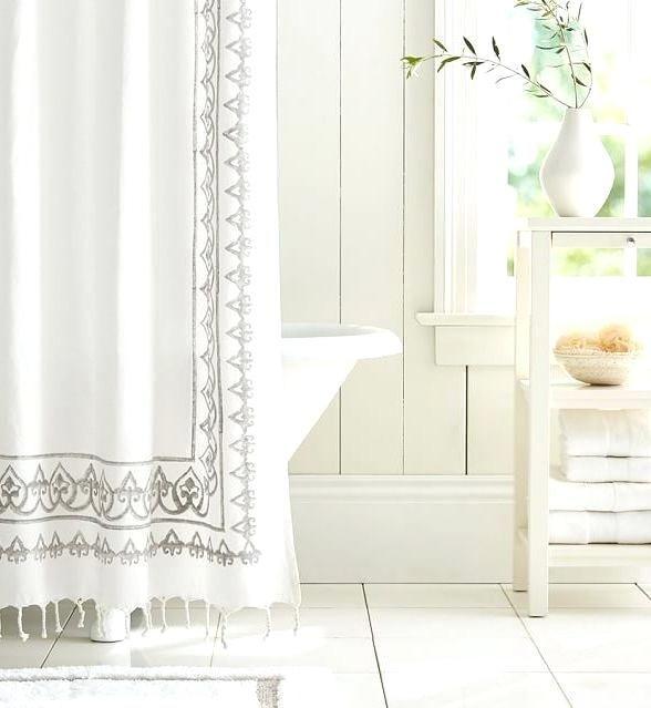 Weißer Bauernhaus Duschvorhang   Tolle badezimmer, Boho badezimmer .