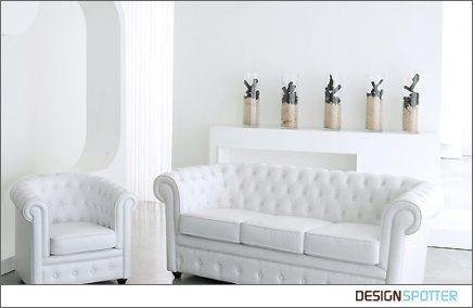 Erstaunlich, Weißes Leder Chesterfield Sofa | Chesterfield sofa .