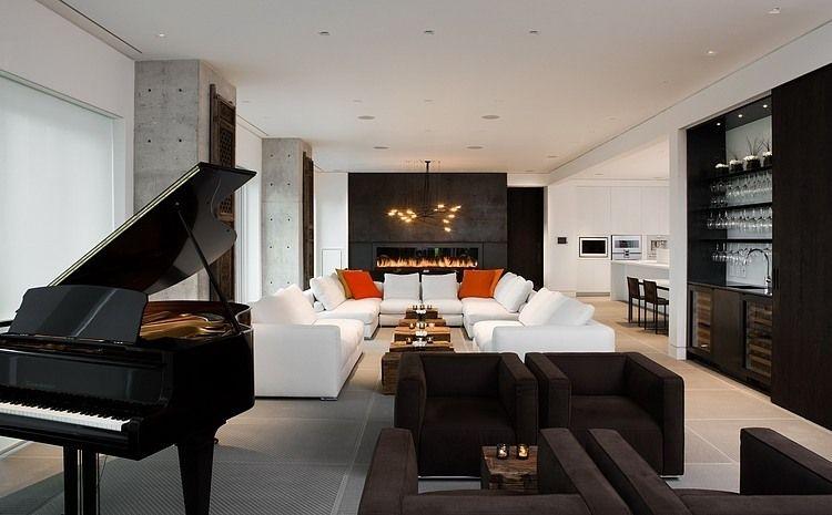 Yorkville Penthouse by Cecconi Simone Inc. | Kaminbau .