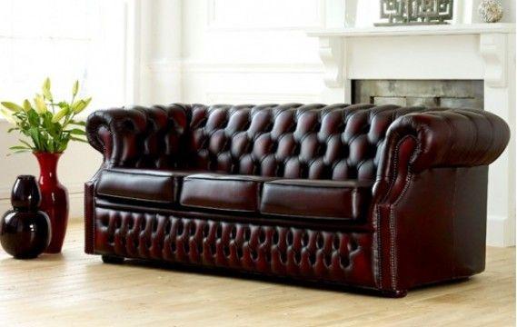 Chesterfield Leder Sofa - Wohnzimmermöbel Chesterfield Leder-Sofa .
