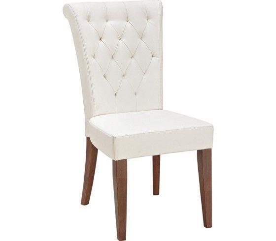 Edler Sessel im weißen Lederlook - schick und bequem   Mesa de .