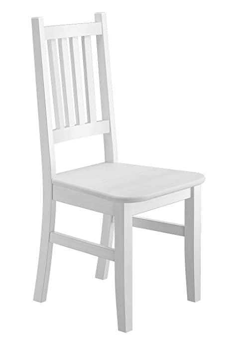 Weißer Küchenstuhl Massivholzstuhl Esszimmerstuhl Stuhl Eris .