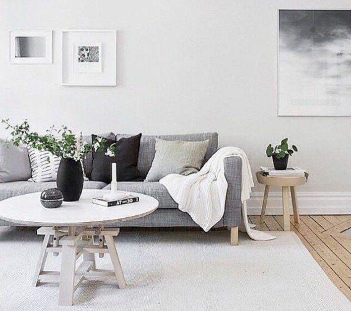 ▷ 1001 + Ideen für Wohnzimmer in Grau-Weiß zum Inspiriren   Small .