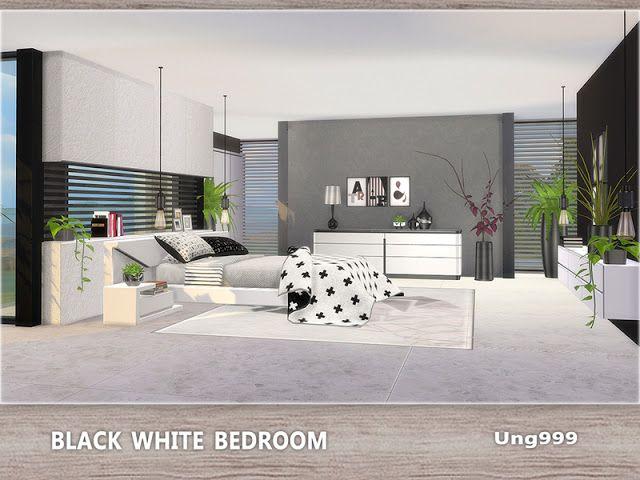 Black White Bedroom by ung999   Schlafzimmer weiß, Modernes .