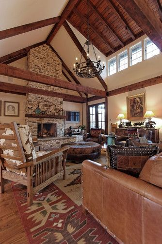 Traditional Family Room Cowboy Western Design, Pictures, Remodel .