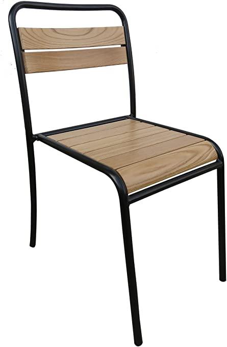 Amazon.com : Mobel Designhaus French Cafe Bistro Chair, Black .