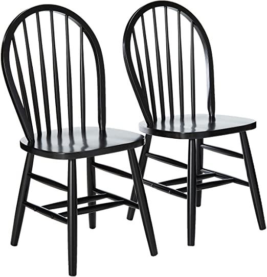 Amazon.com - Winsome Windsor 2-PC Set RTA Black Chair - Chai
