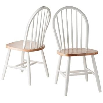 Winsome Wood Windsor Stuhl, 2 Stück Furniture White & Natural .