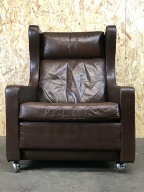 60er 70er Jahre Sessel Easy Chair Wingback Ledersessel Danish Des .