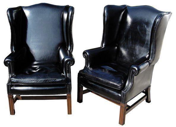 Schwarz Leder Wingback Chair Design Ideen   Design-ideen .