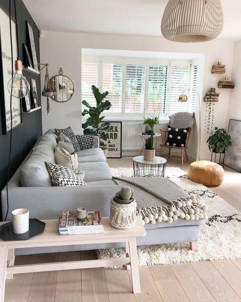 67 Inspirierende moderne Wohnzimmer-Dekor-Ideen für kleine Wohnung .