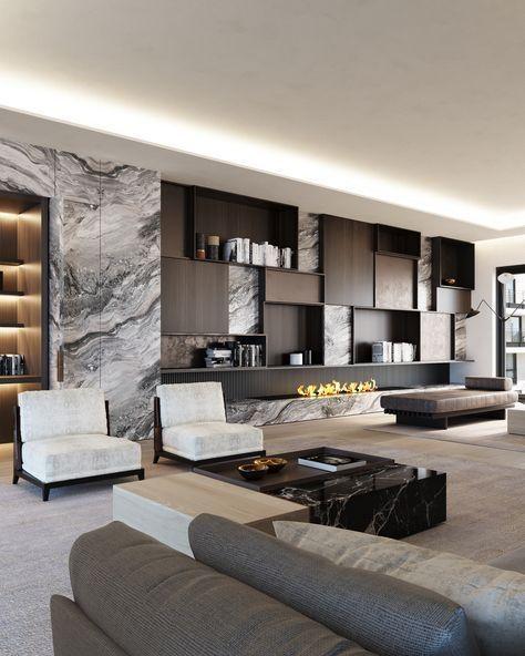 19 Erstaunliche moderne Wohnzimmer-Design-Ideen, #erstaunliche .