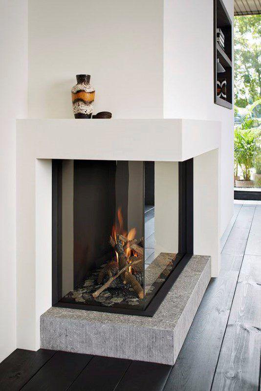 19+ gemütliche Ecke Kamin Design-Ideen im Wohnzimmer #design .