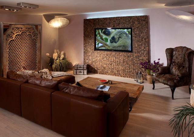 Wohnzimmer einrichten: Tipps & Ideen - Mediterraneo - Home Theatre .
