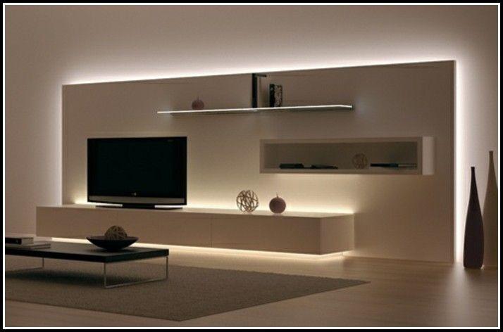 Indirekte Beleuchtung Wohnzimmer Ideen | wohnung | Tv wand ideen .