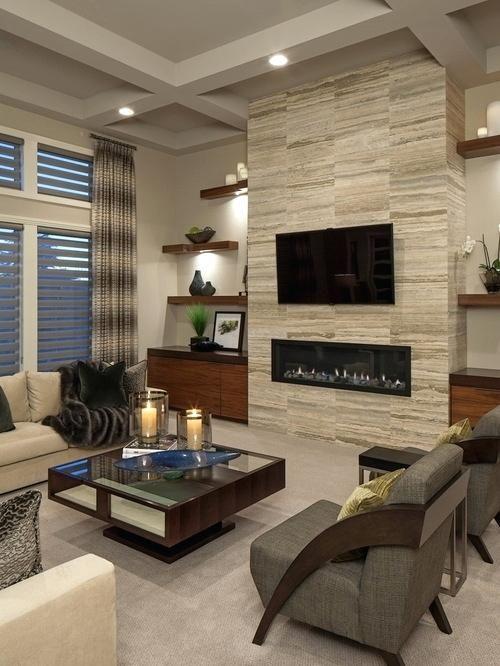 Wohnzimmer Design | Contemporary fireplace designs, Living room .