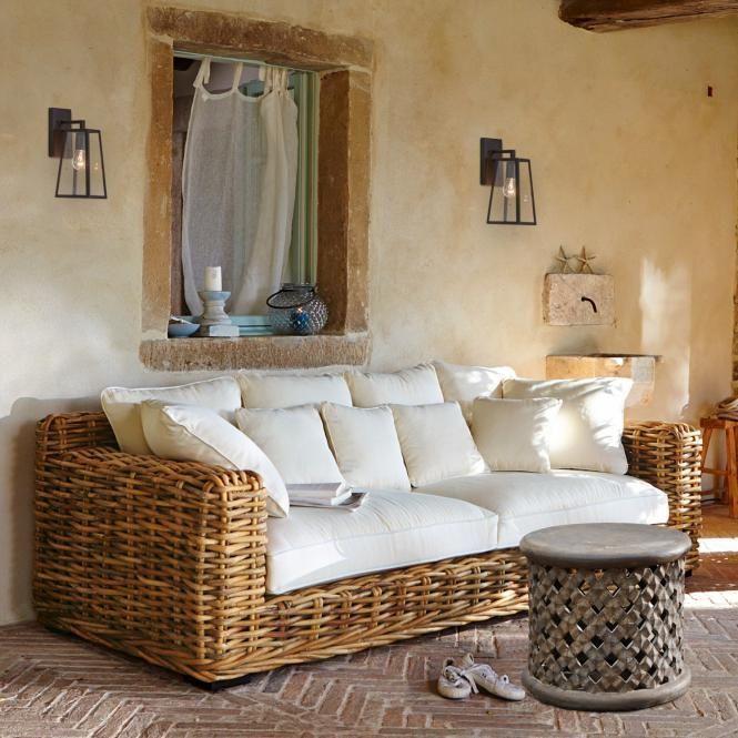 Sofa Rimini   Wohnen, Einrichtungsstil, Rattan möbel balk