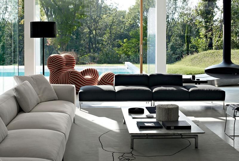 Sofa in Grau - 50 Wohnzimmer mit Designer Cou