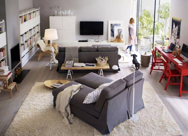 Wohnzimmer Couch mit anderen Sitzgelegenheiten kombinieren – 10 .