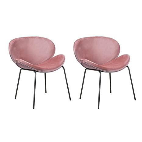 LOVEMYHOUSE Satz Von 2 Samt Sitz Esszimmerstühlen mit Effekt .