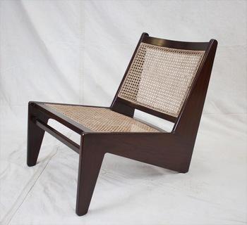 Pierre Jeanneret Le Corbusier Replik Känguru Stuhl Solide Teakholz .