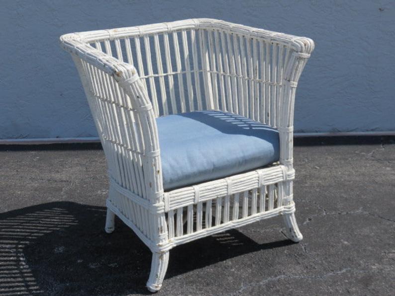 Fru00fche amerikanische Wicker Stuhl Vintage 1930er Jahre Haus .