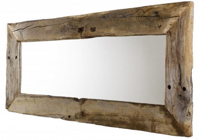 Spiegel aus Eiche Altholz 180cm breit Wandspiegel .