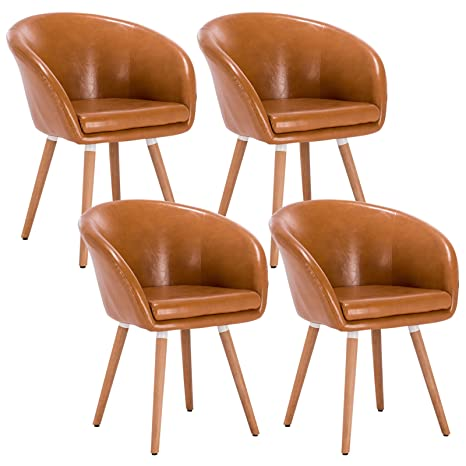 WOLTU® 4er Set Esszimmerstühle Stuhlgruppe Küchenstühle .