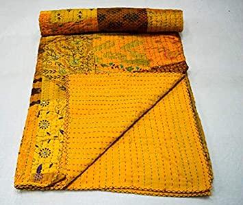 Marusthali Indische handgefertigte Baumwolle Kantha Quilt .