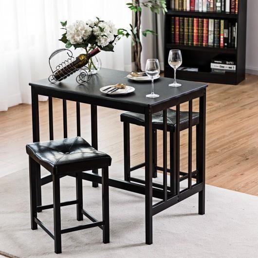 Details über 3-teiliges Esszimmer Set Rechteckiger Tisch mit 2 .