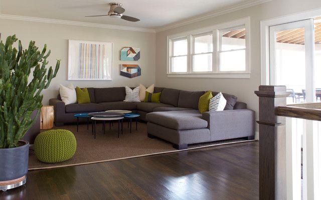 Zeitgenössische Schnittsofa und ihre Vorteile | Living room design .