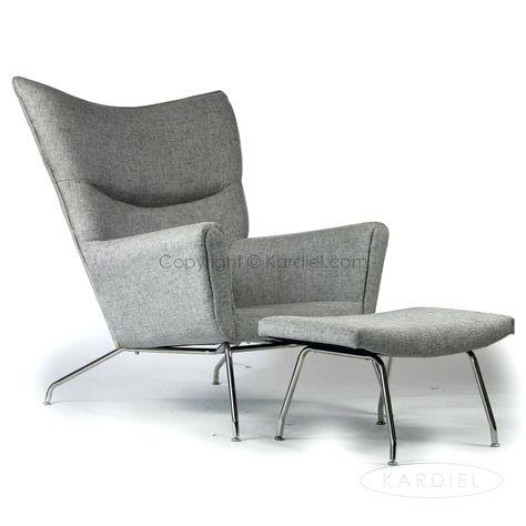 Wing Chair Stuhl Schwarz Weiß Leder Wingback Chair Zeitgenössische .