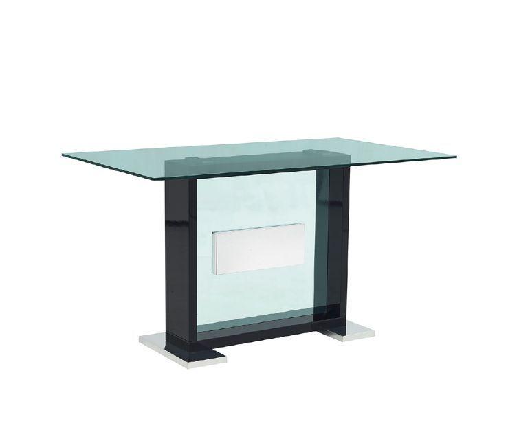 Global USA G1181 Gray Glass Top Stehtisch im zeitgenössischen Stil .
