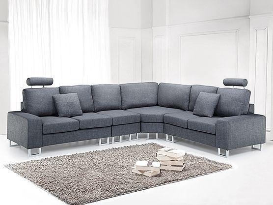 Zeitgenössisches graues Ledersofa | Sofa, Modernes ledersofa und .