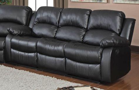 Schwarz Leder Liegende Sofa #Leder | Sofa, Schwarzes led